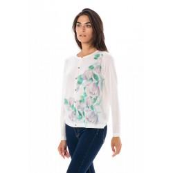 Suéter Botones Flores