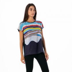 Camiseta Estampado Curvilineo